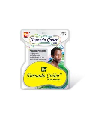 DREAD TORNADO COILER MINI  HAIR SPONGE YELLOW - 10mm