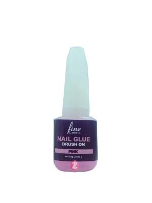 Fine Linesuk Nail Glue Brush On - Pink