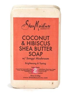 Shea Moisture COCONUT & HIBISCUS SHEA BUTTER SOAP 8 OZ