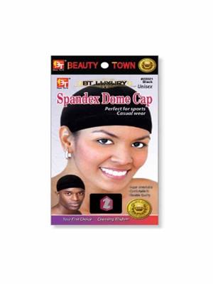 BEAUTY TOWN SPANDEX DOME CAP BLACK #22021